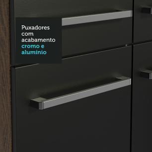 Cozinha Completa Madesa Emilly Hit com Armário e Balcão - Rustic/Preto
