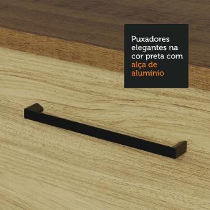 Cozinha Compacta Madesa Agata 280002 com Armário e Balcão - Rustic/Carvalho