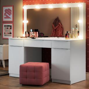 Painel para Penteadeira Camarim Madesa com Espelho
