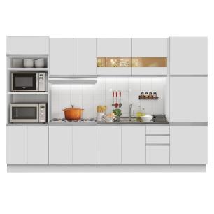 Cozinha Completa Madesa Olimpia 3 Gavetas 14 Portas (Sem Tampo e Pia) - Branco