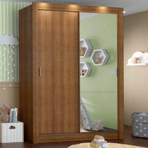 Guarda-Roupa Infantil Madesa Bento 2 Portas de Correr com Espelho 2 Gavetas