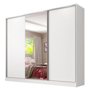 Guarda Roupa Casal 100% MDF com Espelho Madesa Royale 3 Portas de Correr