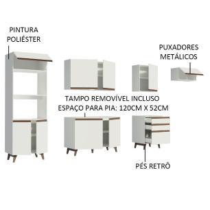 Cozinha Completa Madesa Reims 320001 com Armário e Balcão - Branco