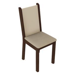 Kit 6 Cadeiras 4291 Madesa - Tabaco/Crema/Pérola