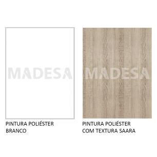 Balcão de Pia Madesa Stella 1 Porta e 2 Gavetas - Branco/Saara
