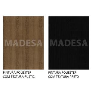 Rack Madesa Cairo e Painel para TV até 65 Polegadas com Pés de Madeira - Preto/Rustic/Rustic