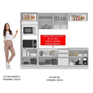 Cozinha Completa Madesa Atenas 10 Portas 3 Gavetas (Sem Tampo e Pia)