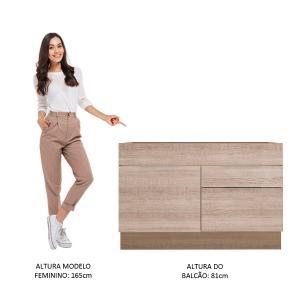Balcão de Pia Madesa Stella 1 Porta e 2 Gavetas - Rustic/Saara