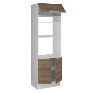Torre Quente Madesa Stella 70 cm 3 Portas - Branco/Rustic