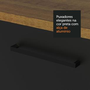 Armário Aéreo Madesa Agata 80 cm 1 Porta Basculante - Rustic/Preto