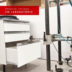 Kit Madesa Onix 60 cm 2 Portas com Armário Aéreo e Balcão - Branco/Rustic