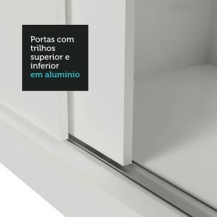 Guarda Roupa Casal Madesa Mônaco 3 Portas de Correr de Espelho