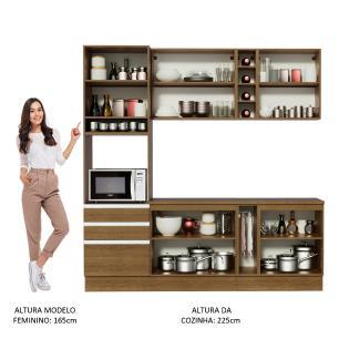 Cozinha Completa Madesa Áquila com Armário e Balcão