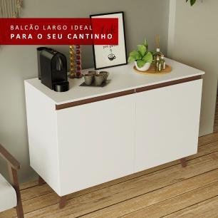 Balcão Cantinho do Café Madesa Reims 2 Portas - Branco