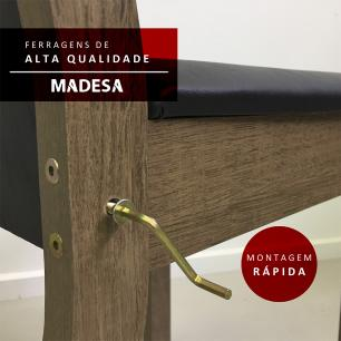 Conjunto Sala de Jantar Madesa Bárbara Mesa Tampo de Madeira com 6 Cadeiras