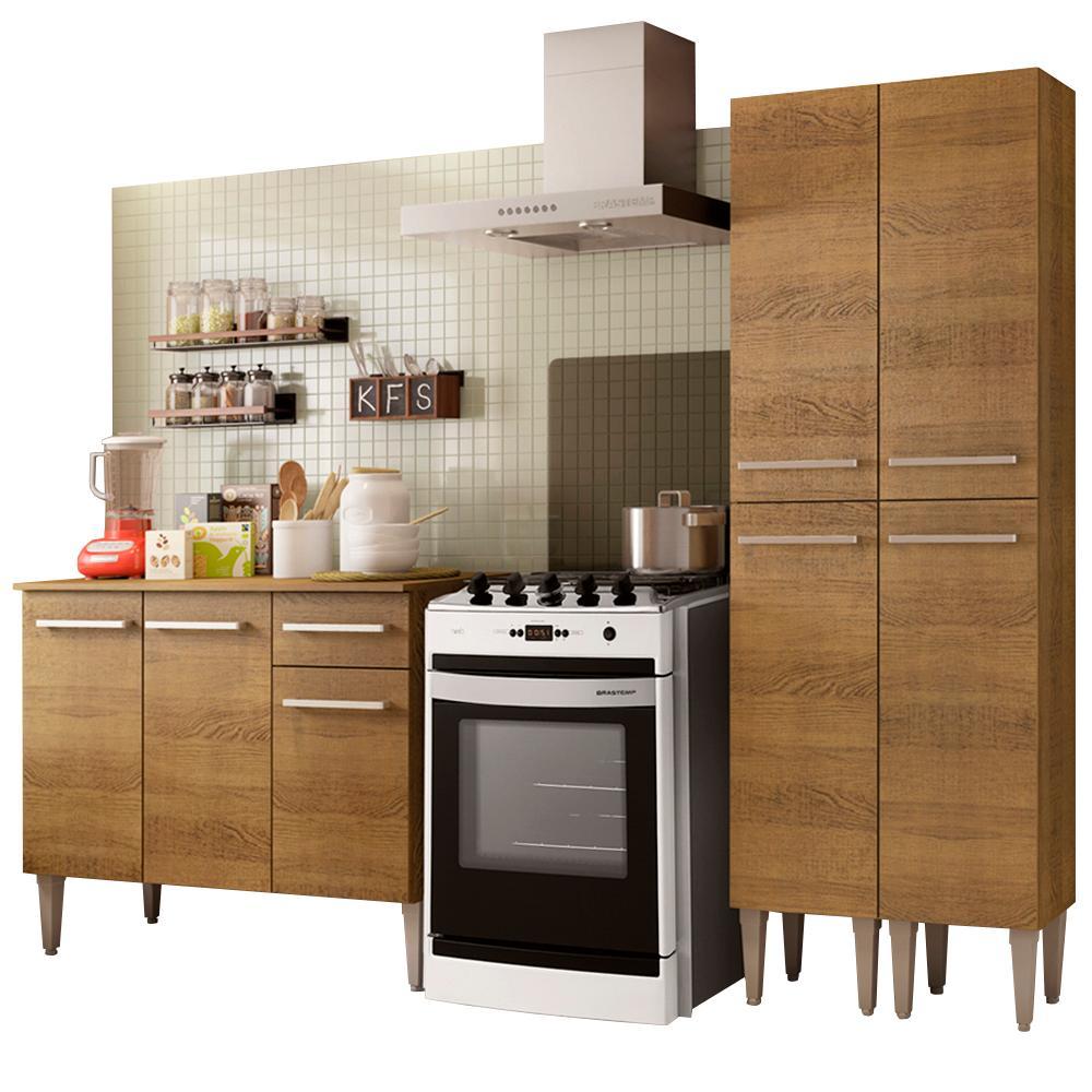 Cozinha Compacta Madesa Emilly Front com Balcão e Paneleiro