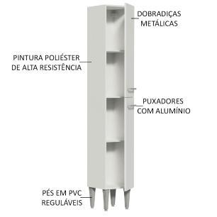 Paneleiro Madesa Emilly 2 Portas - Branco