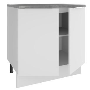 Balcão Madesa Stella 80 cm 2 Portas - Branco