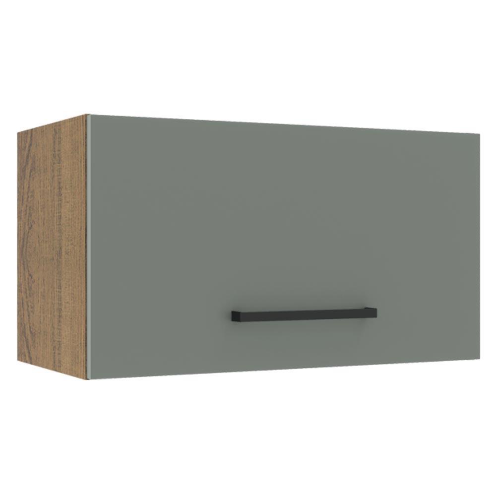 Armário Aéreo Madesa Agata 60 cm 1 Porta Basculante - Rustic/Cinza