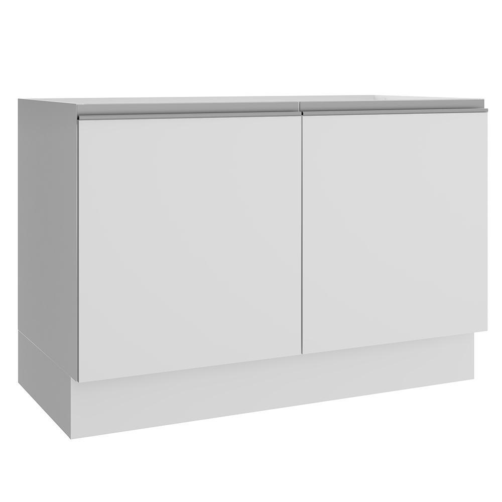 Balcão Gabinete de Pia Madesa Glamy 120 cm 2 Portas - Branco
