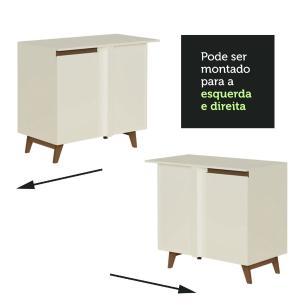 Balcão de Canto Madesa Reims 1 Porta - Branco