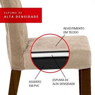 Conjunto Sala de Jantar Madesa Eduarda Mesa Tampo de Madeira com 6 Cadeiras