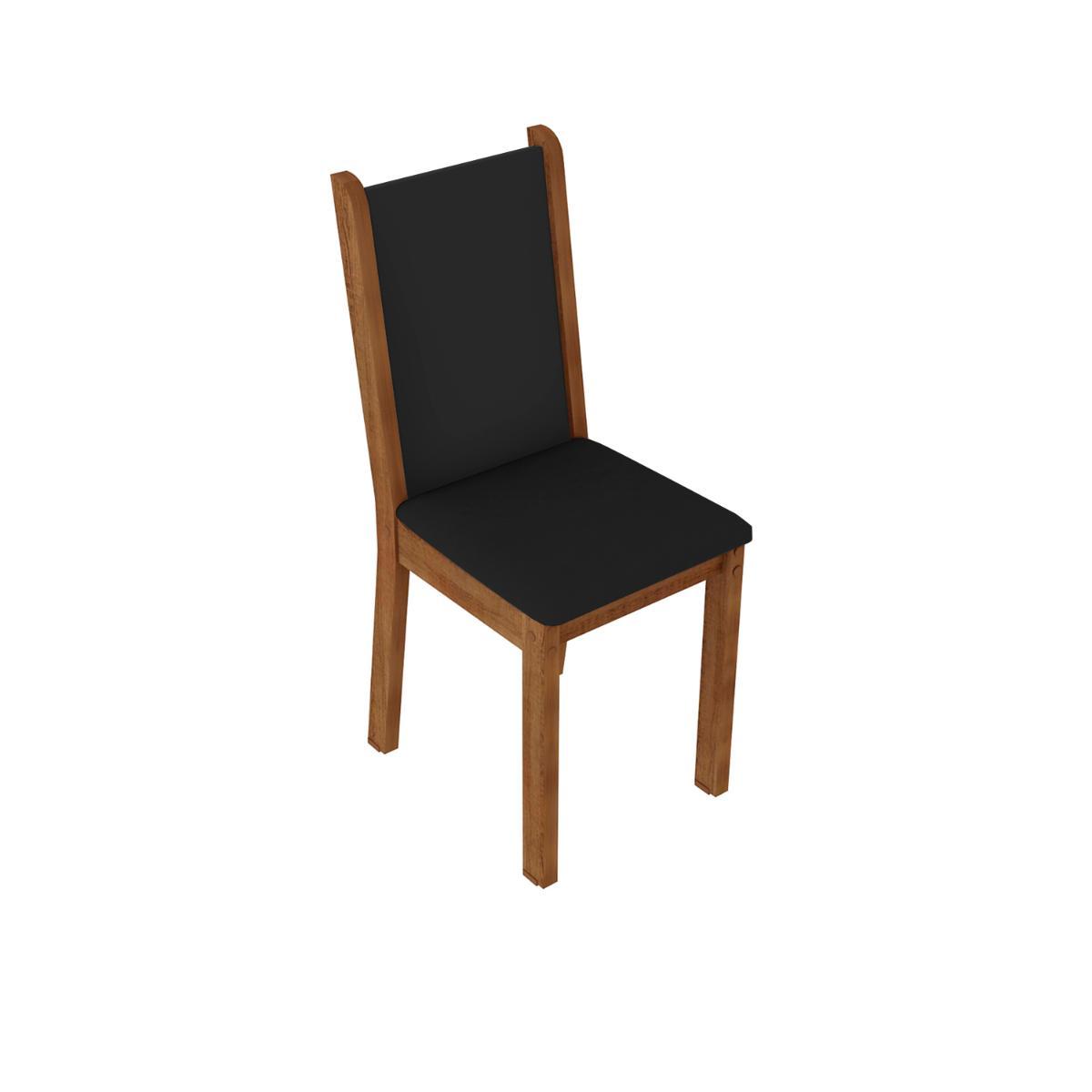 Kit 4 Cadeiras 4291 Madesa Rustic/Preto