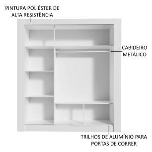Kit Madesa Guarda-Roupa Infantil City 3 Portas de Correr de Espelho + Beliche Larissa