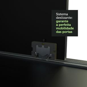 Guarda-Roupa Casal Madesa Austin 4 Portas de Correr com Espelhos 3 Gavetas