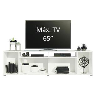 Rack para TV até 65 Polegadas Madesa Cancun - Branco/Rustic