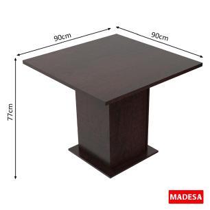 Mesa Madesa Quadrada Tampo de Madeira 5295 Tabaco