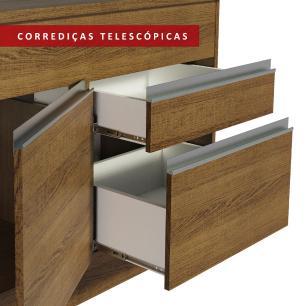 Balcão de Pia Madesa Glamy 150 cm 2 Portas e 2 Gavetas (Com Tampo) - Rustic