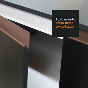 Cozinha Completa Madesa Reims 240001 com Armário e Balcão - Preto/Rustic
