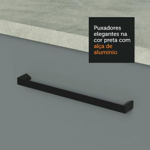 Balcão de Pia Madesa Agata 1 Porta e 2 Gavetas - Branco/Cinza