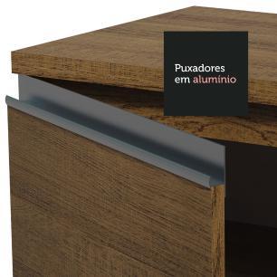 Balcão de Pia Madesa Glamy 120 cm 1 Porta e 2 Gavetas (Com Tampo) - Rustic