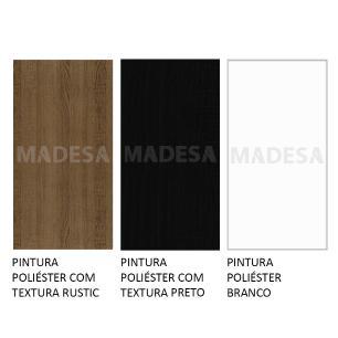 Cozinha Completa Madesa Onix 240003 com Armário e Balcão - Rustic/Preto/Branco 5Z77