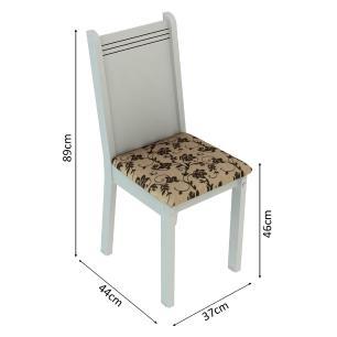 Conjunto Sala de Jantar Madesa Rosie Mesa Tampo de Madeira com 4 Cadeiras