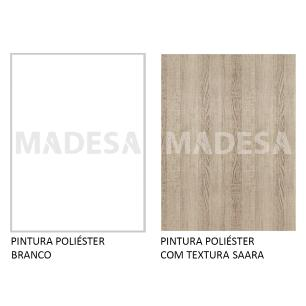 Balcão Madesa Glamy 60 cm 3 Gavetas - Branco/Saara