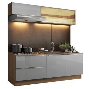 Cozinha Completa Madesa Lux com Armário e Balcão 5 Portas 2 Gavetas - Rustic