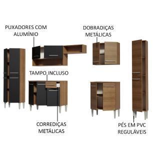 Cozinha Completa Madesa Emilly Joycom Armário e Balcão 15 Portas 1 Gaveta