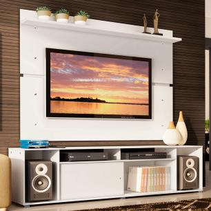 Rack Madesa Cancun e Painel para TV até 65 Polegadas - Branco