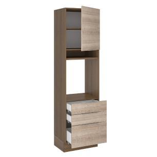Torre Quente Madesa Stella 60 cm 1 Porta 3 Gavetas - Rustic/Saara