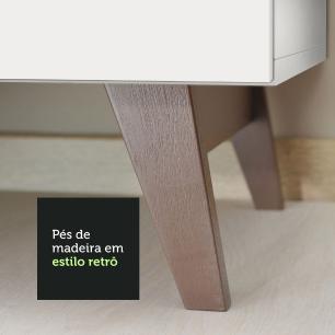 Cozinha Completa Madesa Reims 235001 com Armário e Balcão - Branco