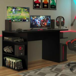 Mesa para Computador Gamer Madesa 9409 - Preto