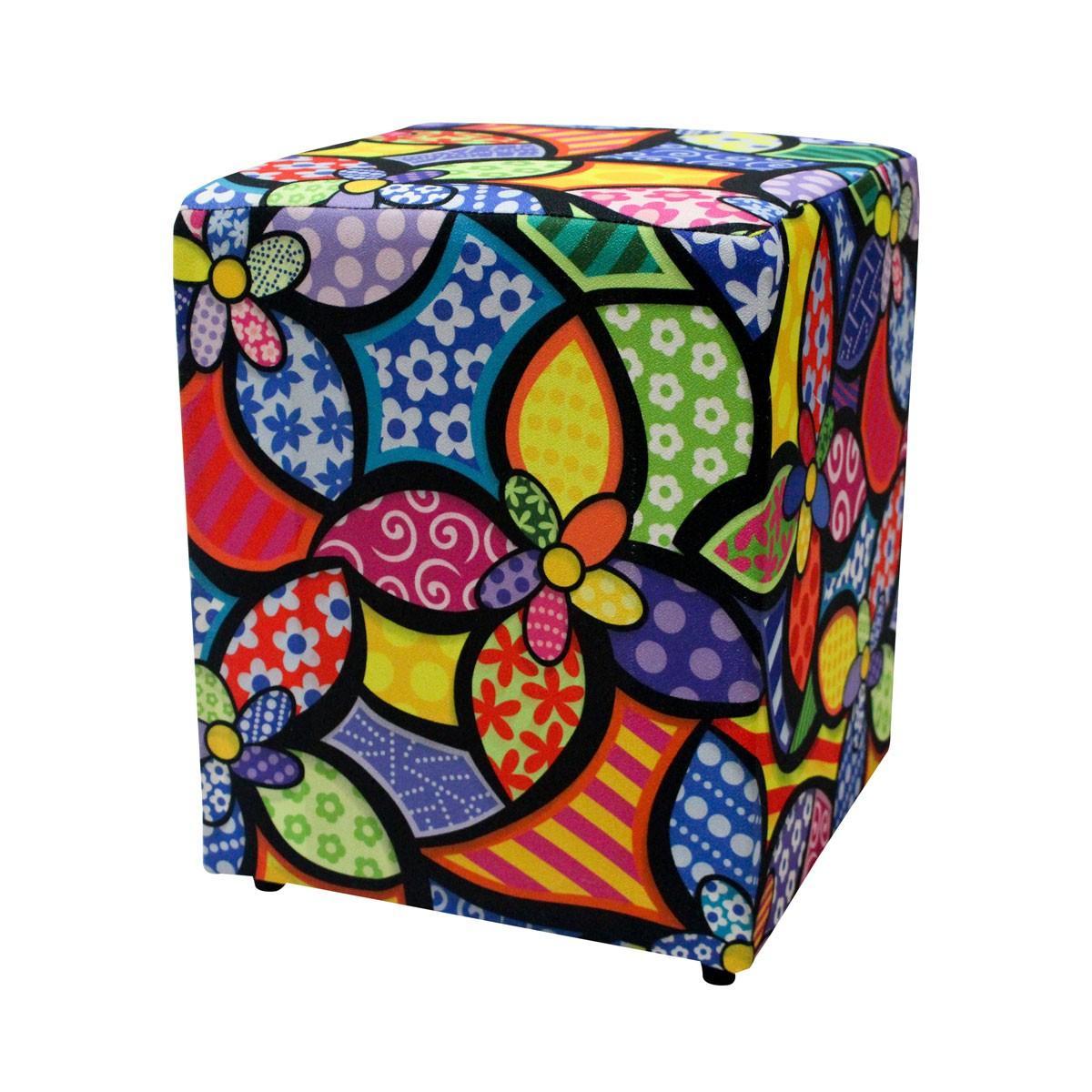 Puff Decorativo Quadrado Clássica