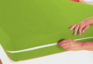 Capa de Colchão Solteiro Verde
