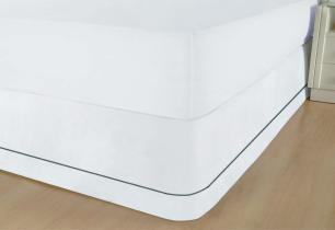 Colchobox Microfibra Ponto Palito Solteiro Branca