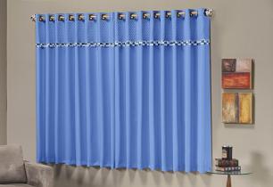 Cortina Thierry 2,00m x 1,70m Azul