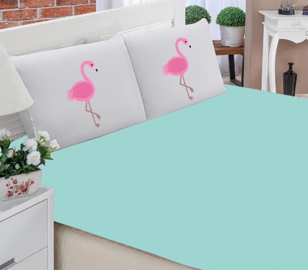 Jogo Lençol Queen Flamingo 03 Peças
