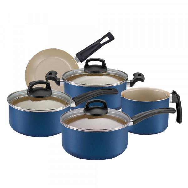 Conjunto de Panelas 05 peças Azul Premium